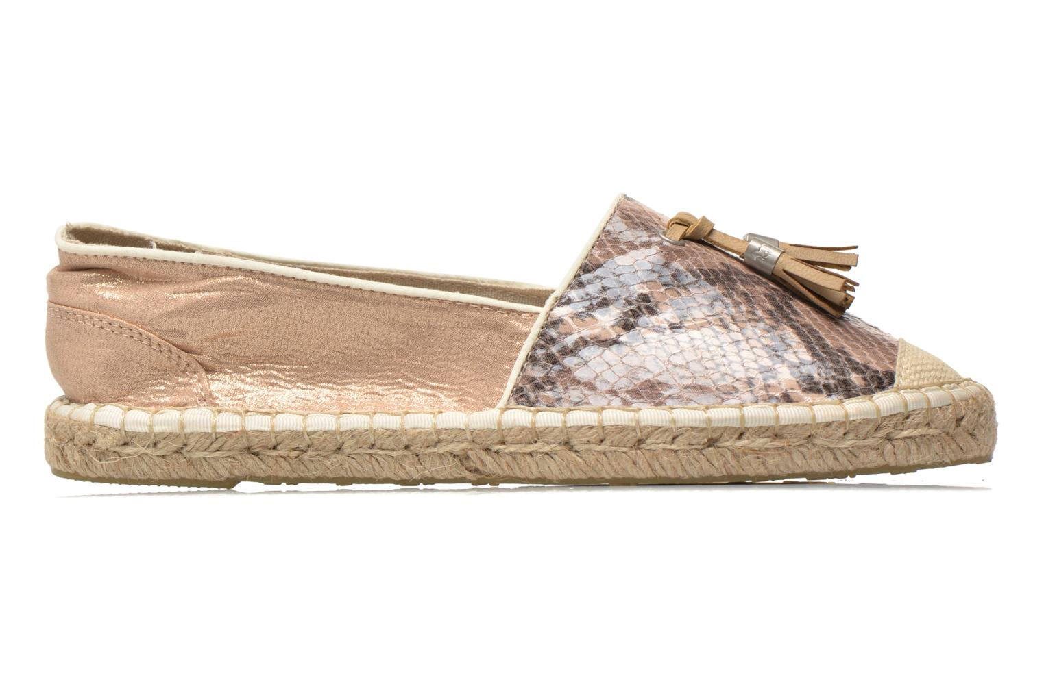 Espadrilles Mustang shoes Brauw Brown back view