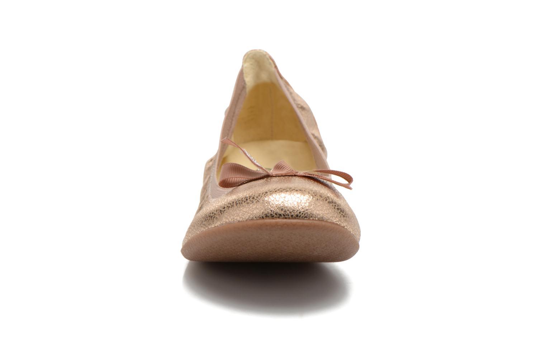 Bailarinas Le temps des cerises Lilou II Oro y bronce vista del modelo