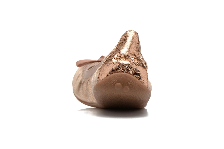 Bailarinas Le temps des cerises Lilou II Oro y bronce vista lateral derecha