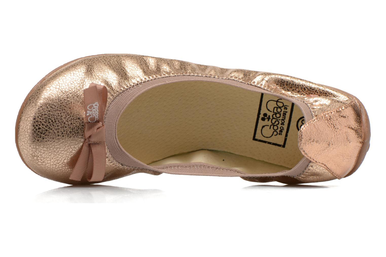 Bailarinas Le temps des cerises Lilou II Oro y bronce vista lateral izquierda