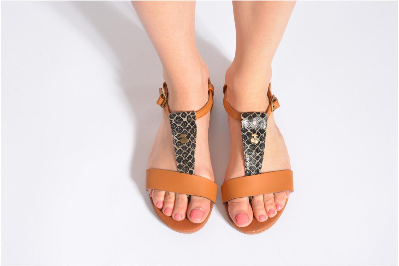 Sandales et nu-pieds Le temps des cerises Carly Noir vue bas / vue portée sac