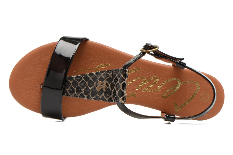 Sandales et nu-pieds Le temps des cerises Carly Noir vue gauche