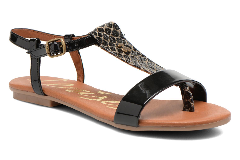 Sandales et nu-pieds Le temps des cerises Carly Noir vue détail/paire