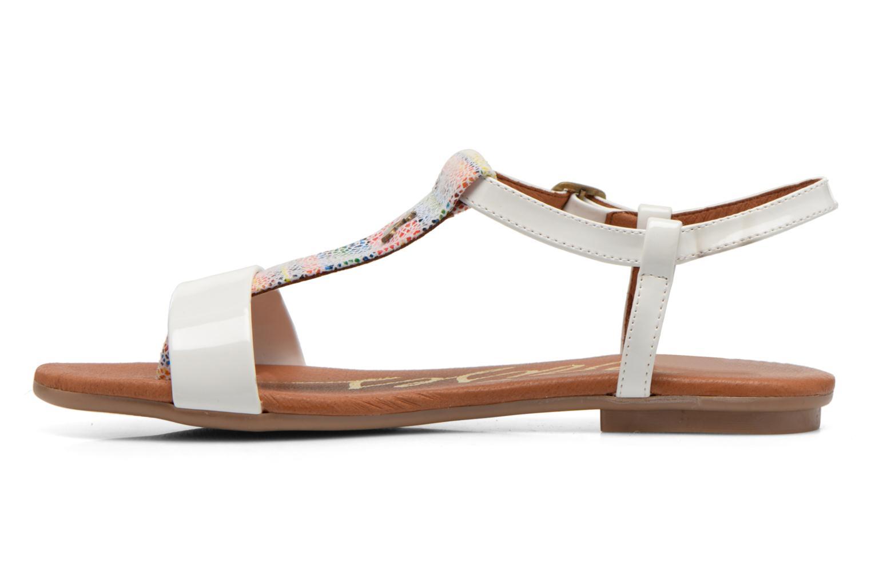 Sandales et nu-pieds Le temps des cerises Carly Blanc vue face