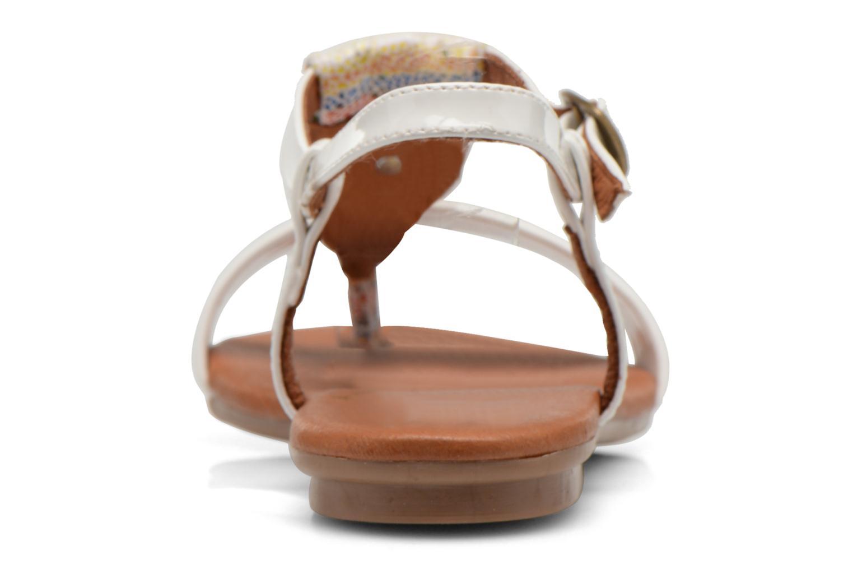 Sandales et nu-pieds Le temps des cerises Carly Blanc vue droite