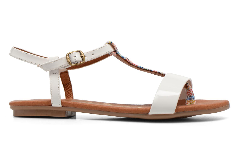 Sandales et nu-pieds Le temps des cerises Carly Blanc vue derrière