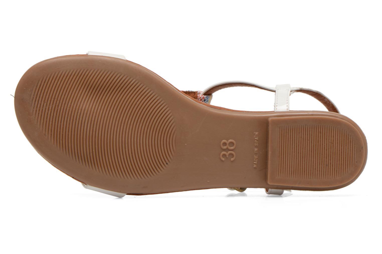 Sandales et nu-pieds Le temps des cerises Carly Blanc vue haut