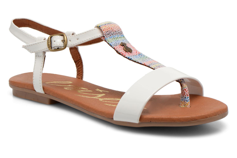 Sandales et nu-pieds Le temps des cerises Carly Blanc vue détail/paire