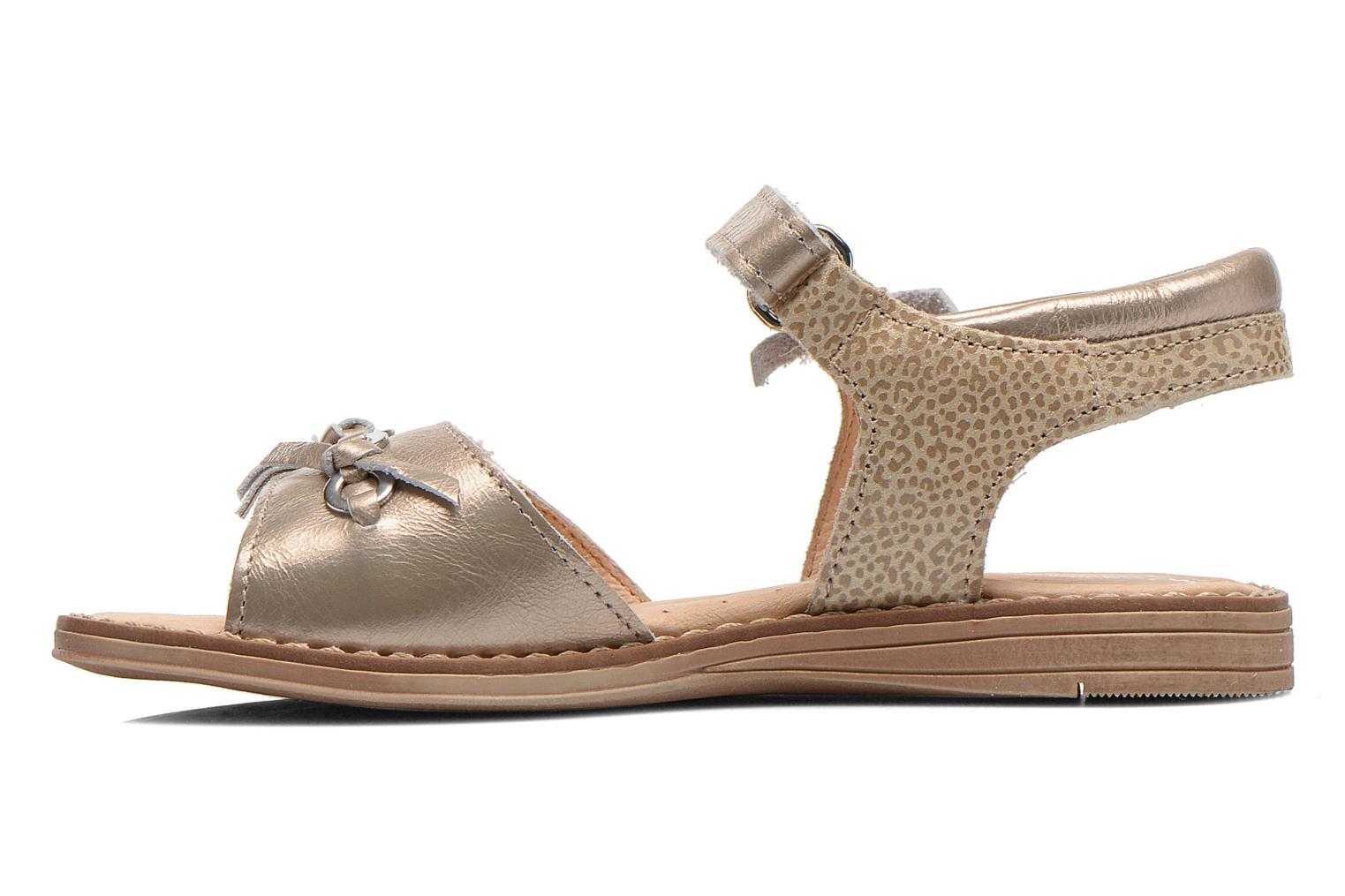 Sandales et nu-pieds Babybotte Koxinel Or et bronze vue face