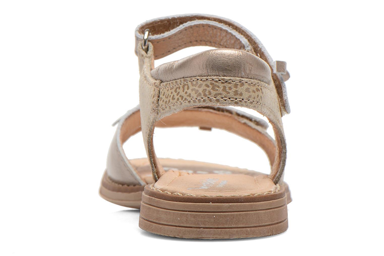 Sandales et nu-pieds Babybotte Koxinel Or et bronze vue droite