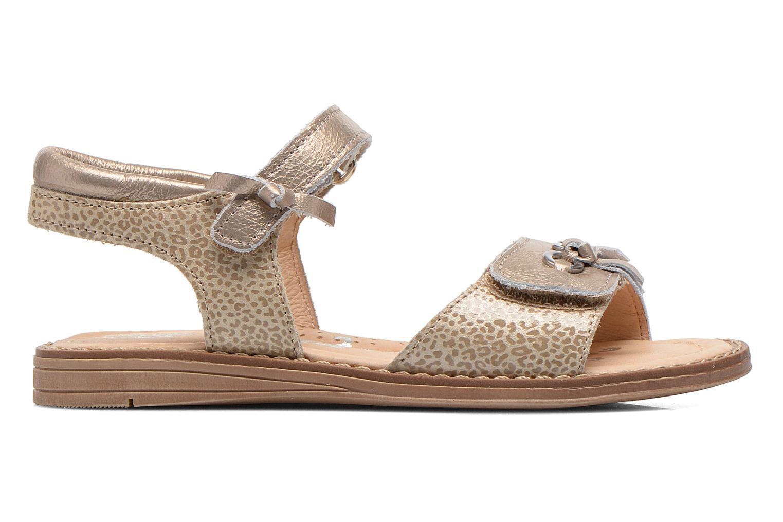 Sandales et nu-pieds Babybotte Koxinel Or et bronze vue derrière