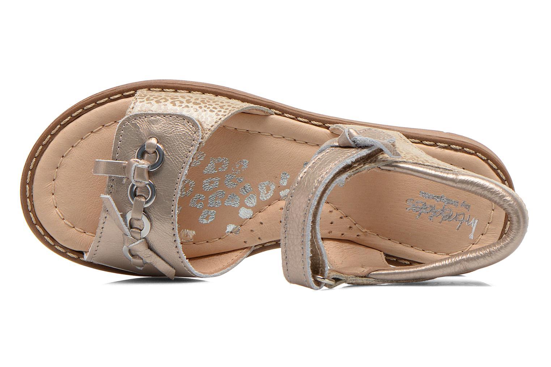Sandales et nu-pieds Babybotte Koxinel Or et bronze vue gauche
