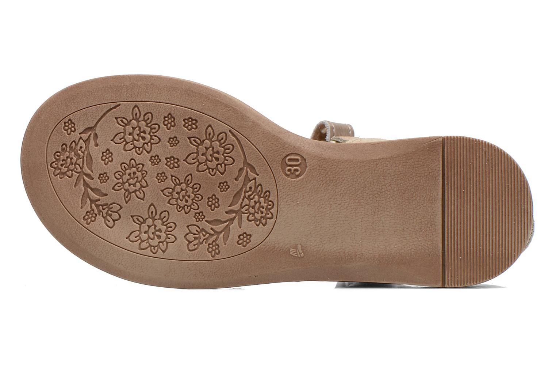 Sandales et nu-pieds Babybotte Koxinel Or et bronze vue haut