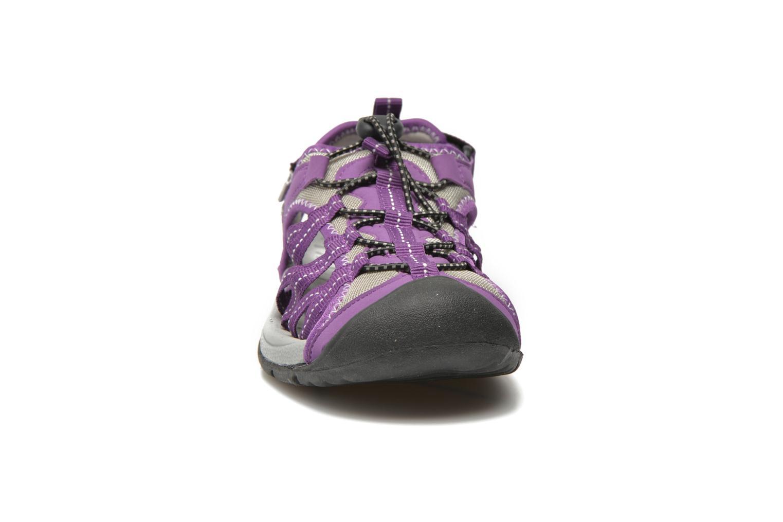 Chaussures de sport Trespass Facet Violet vue portées chaussures