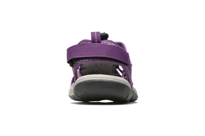 Zapatillas de deporte Trespass Facet Violeta      vista lateral derecha