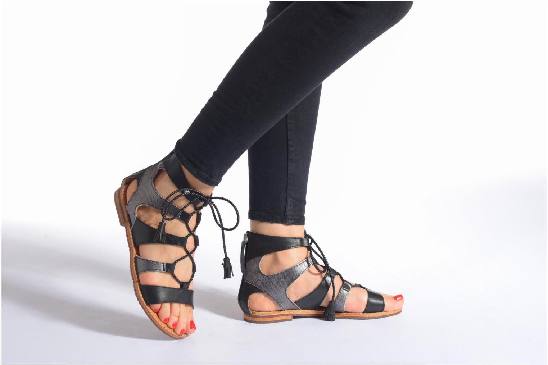 Sandales et nu-pieds Geox D SOZY P D622CP Noir vue bas / vue portée sac