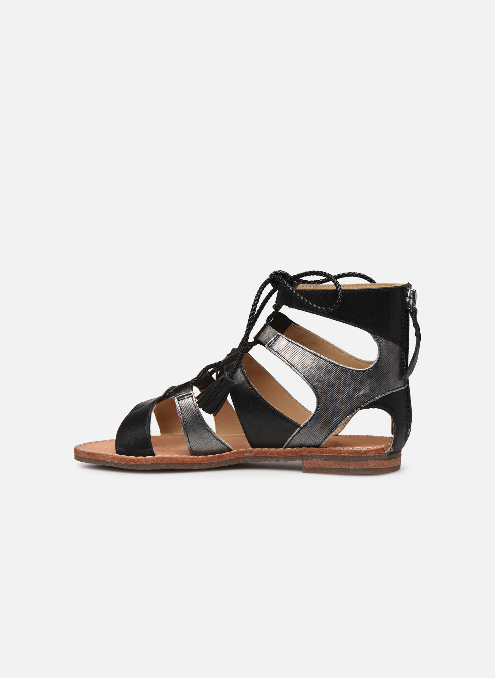 Sandales et nu-pieds Geox D SOZY P D622CP Noir vue face