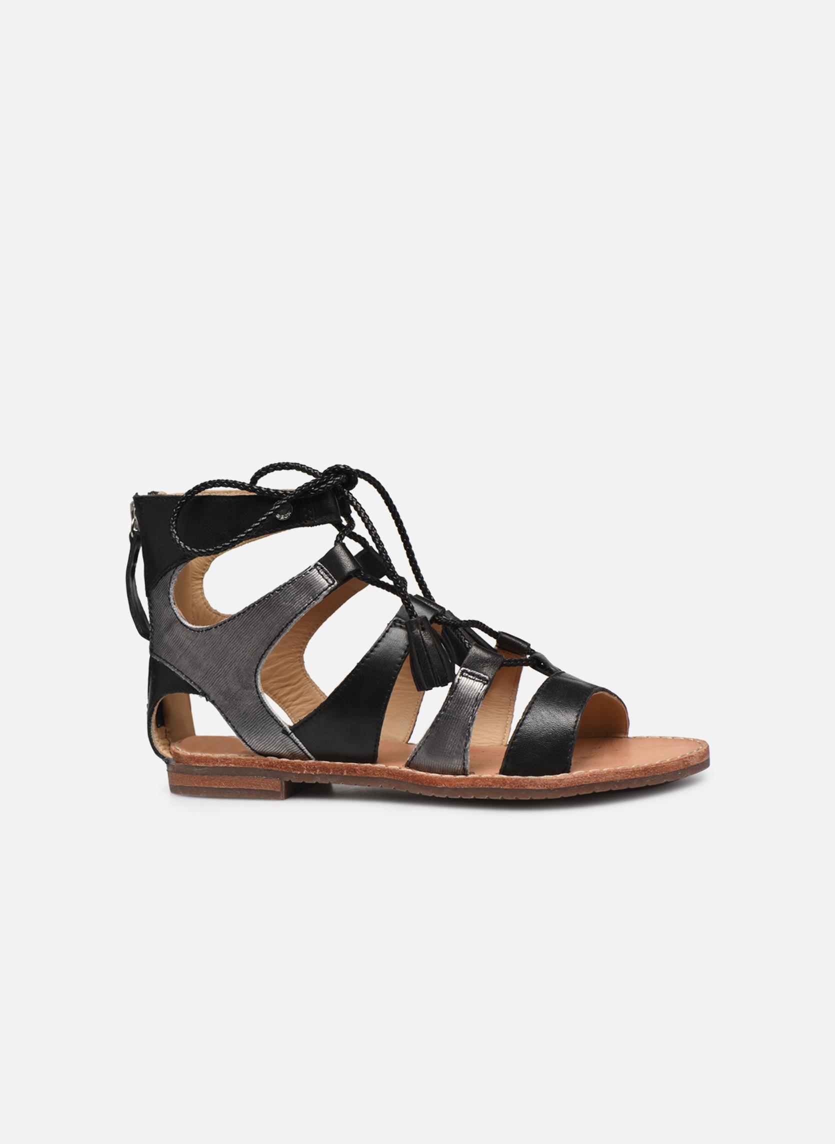 Sandales et nu-pieds Geox D SOZY P D622CP Noir vue derrière