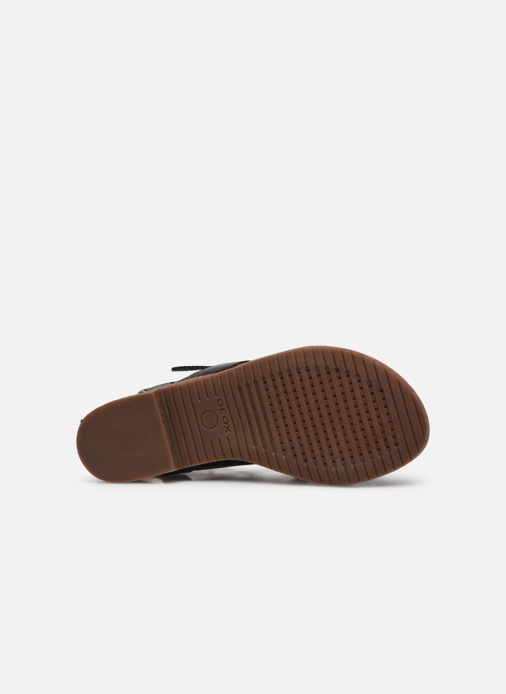 Sandales et nu-pieds Geox D SOZY P D622CP Noir vue haut