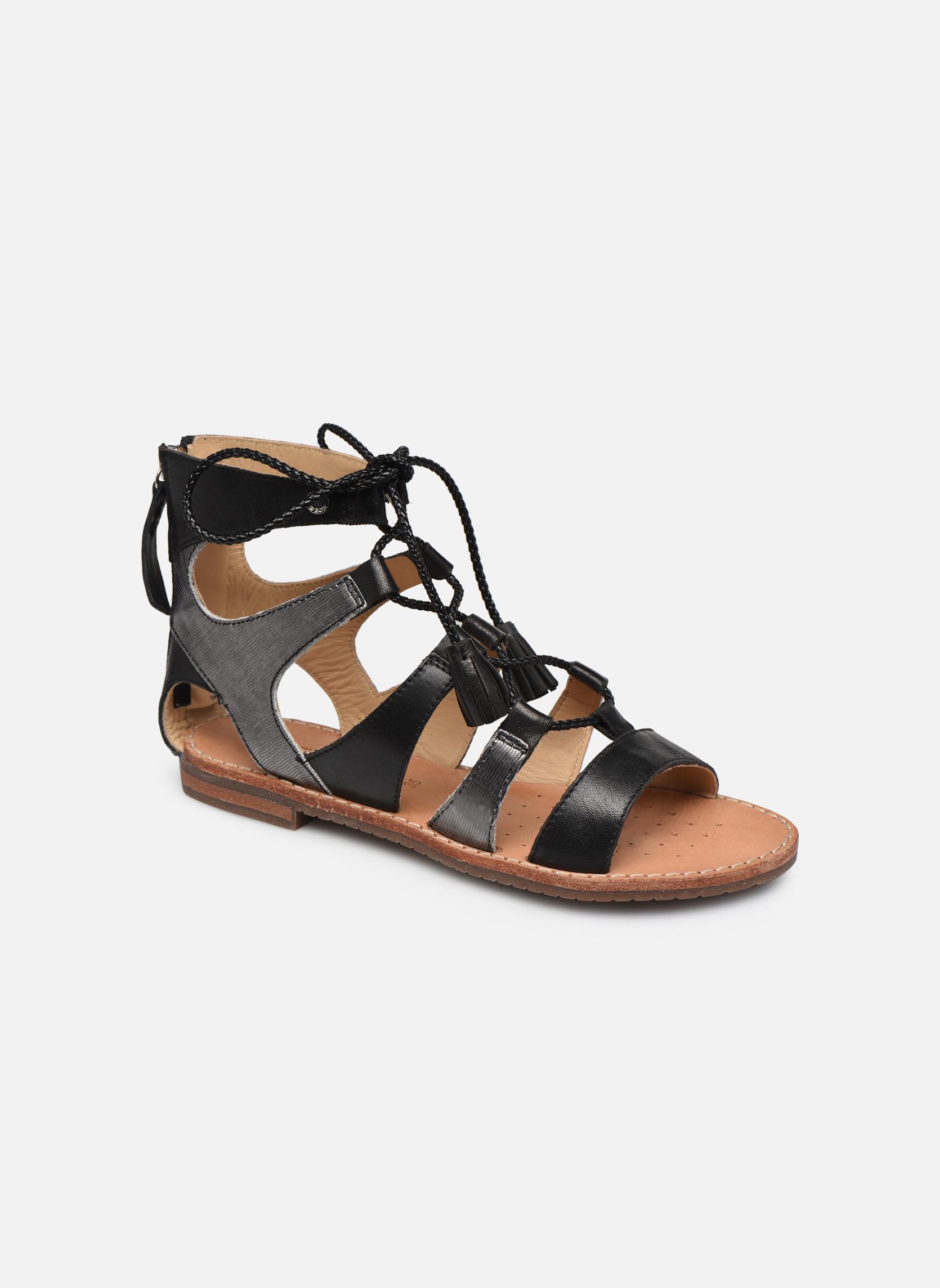 Sandales et nu-pieds Geox D SOZY P D622CP Noir vue détail/paire