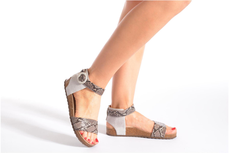 Sandales et nu-pieds Geox D ZAYNA E D622BE Gris vue bas / vue portée sac