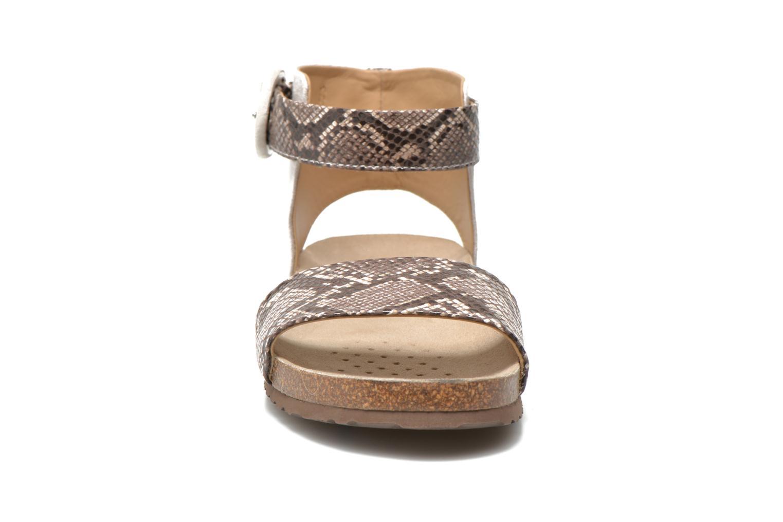 Sandales et nu-pieds Geox D ZAYNA E D622BE Gris vue portées chaussures