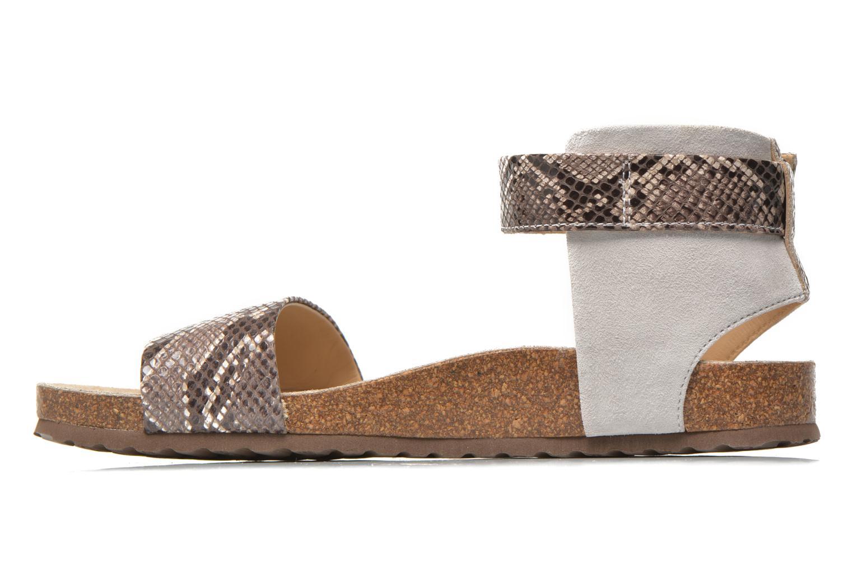 Sandales et nu-pieds Geox D ZAYNA E D622BE Gris vue face