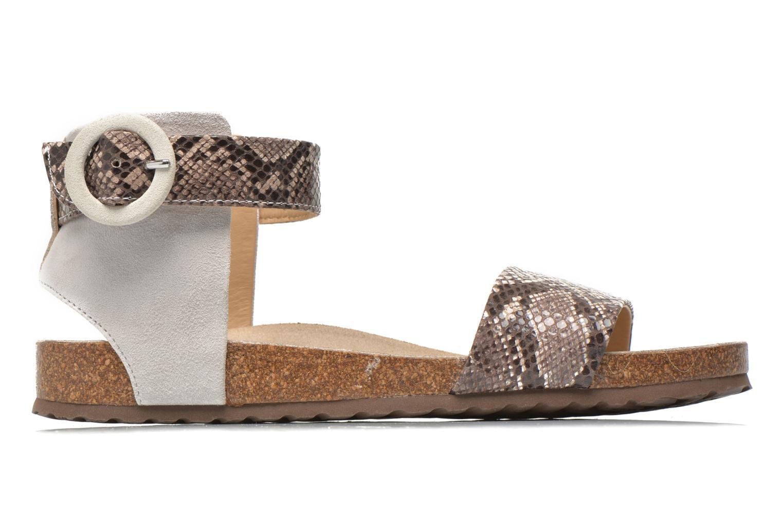 Sandales et nu-pieds Geox D ZAYNA E D622BE Gris vue derrière