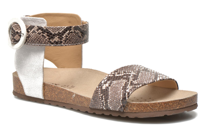 Sandales et nu-pieds Geox D ZAYNA E D622BE Gris vue détail/paire
