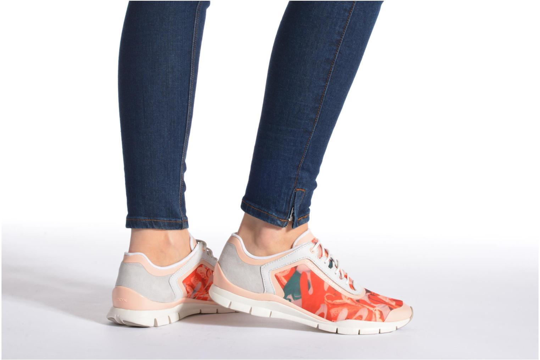 Sneaker Geox D SUKIE E D62F2E mehrfarbig ansicht von unten / tasche getragen