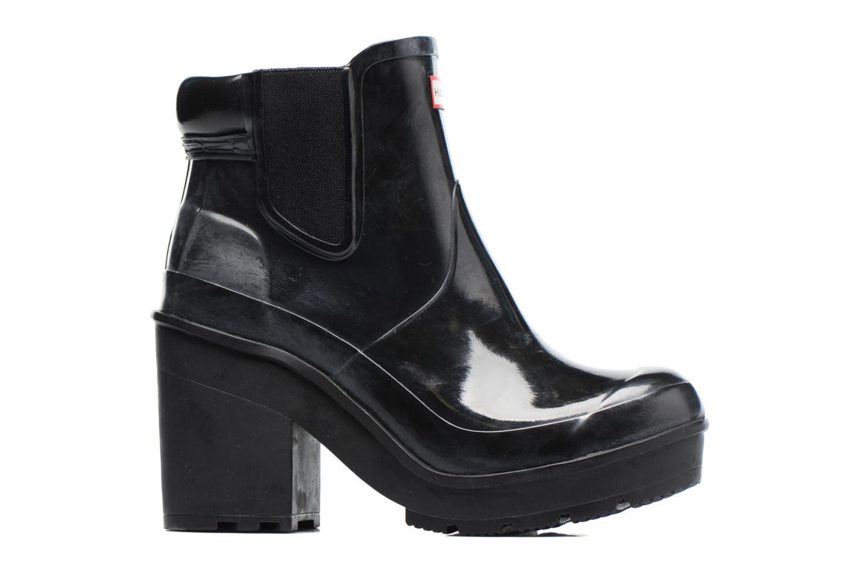 Boots Hunter Original Block Heel Chelsea Gloss Svart bild från baksidan