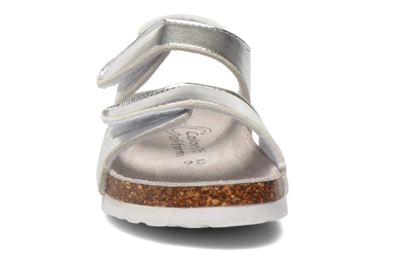 Sandales et nu-pieds Colors of California Bio Laminated Sandals Argent vue portées chaussures