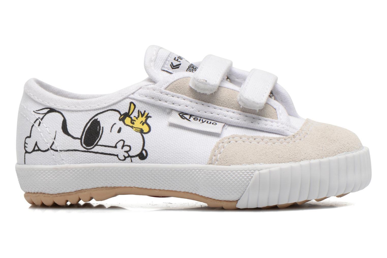 Baskets Feiyue Fe Lo Snoopy Blanc vue derrière