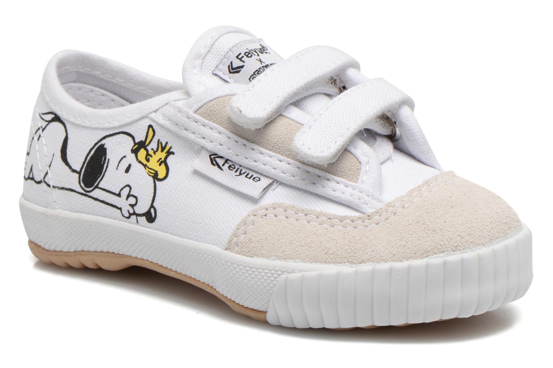 Baskets Feiyue Fe Lo Snoopy Blanc vue détail/paire