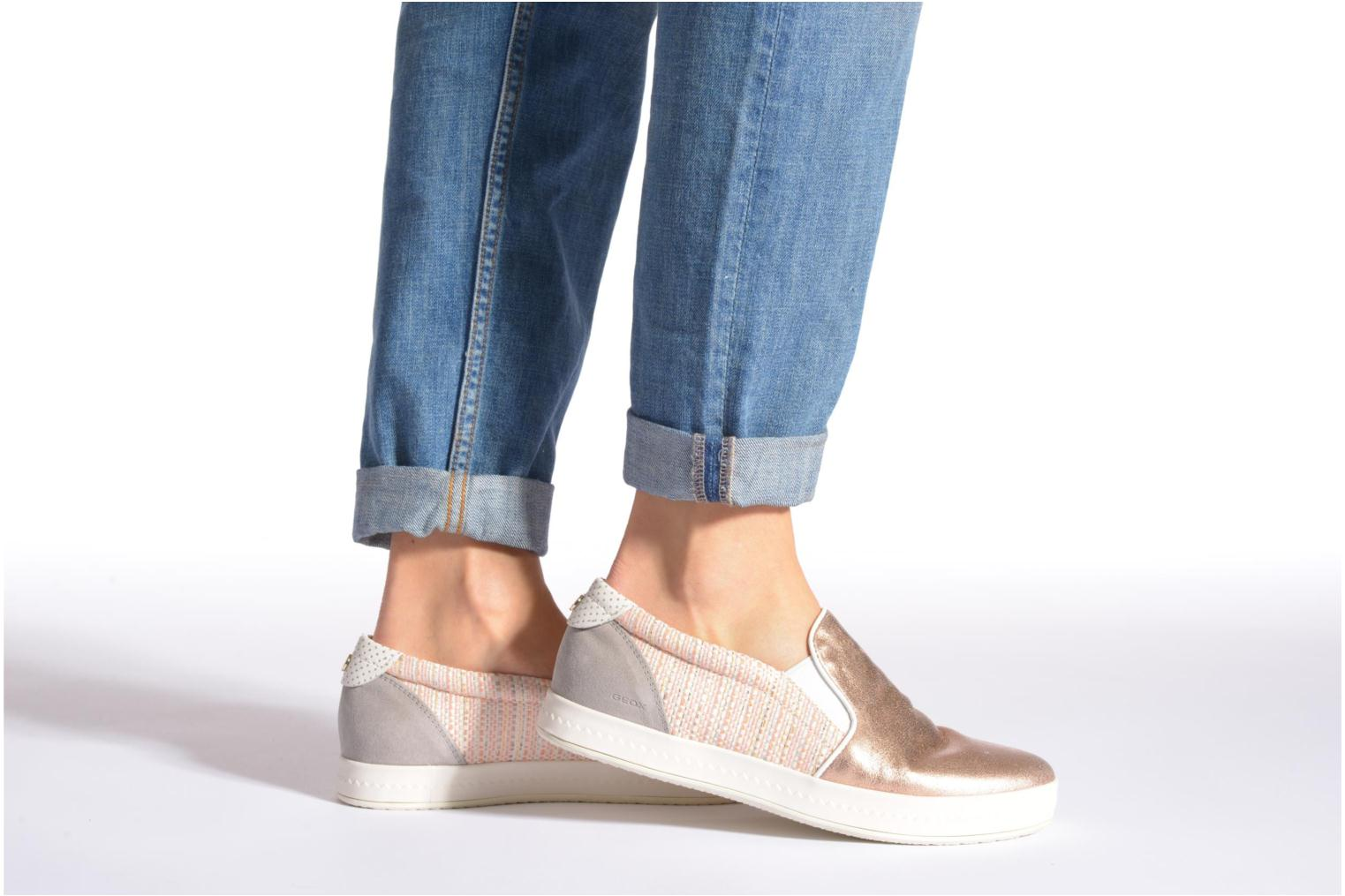 Sneakers Geox D MODESTY C D4429C Argento immagine dal basso