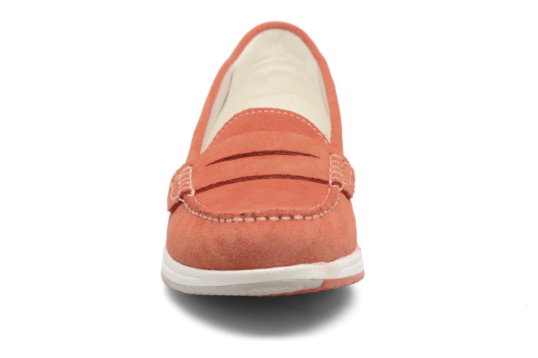 Mocassins Geox D AVERY C D62H5C Orange vue portées chaussures