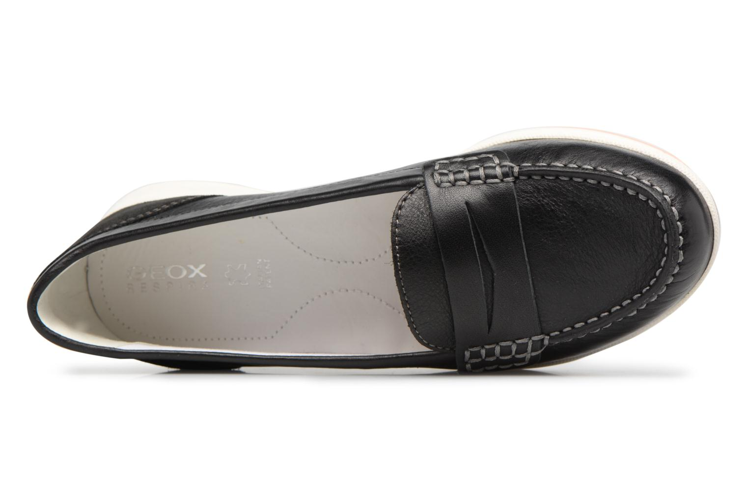 Mocassins Geox D AVERY C D62H5C Zwart links