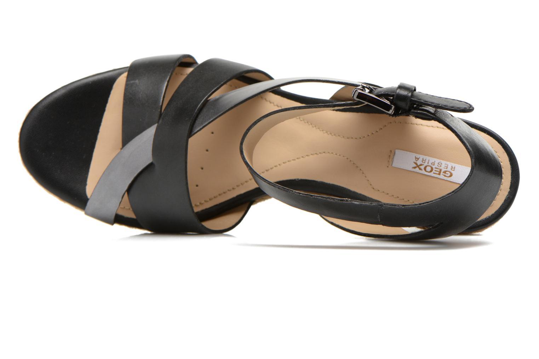 Sandales et nu-pieds Geox D SOLEIL C D62N7C Noir vue gauche