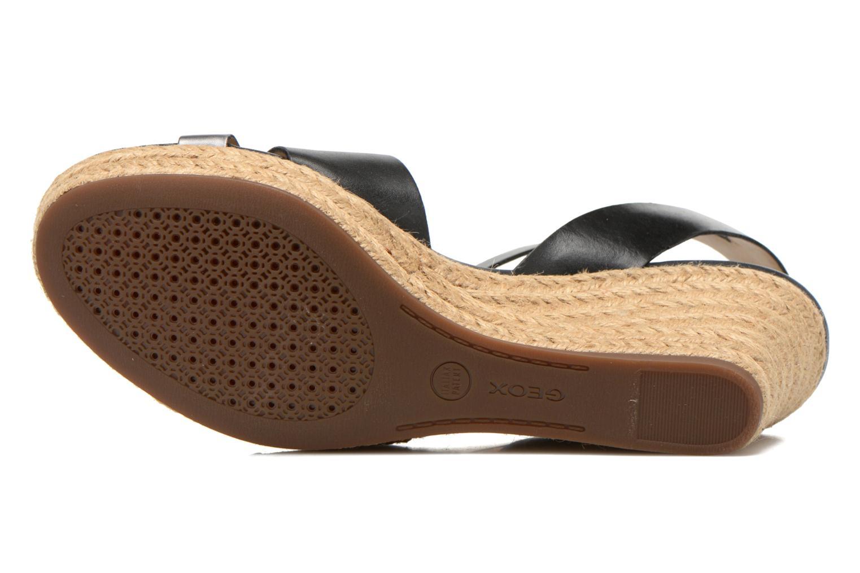 Sandales et nu-pieds Geox D SOLEIL C D62N7C Noir vue haut