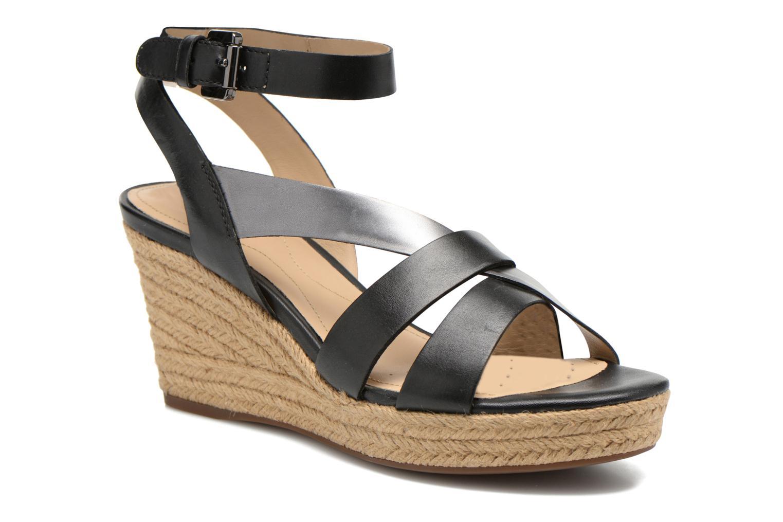 Sandales et nu-pieds Geox D SOLEIL C D62N7C Noir vue détail/paire