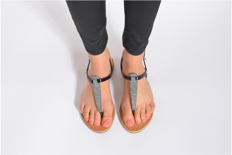 Sandalen Geox D SOZY F D622CF mehrfarbig ansicht von unten / tasche getragen