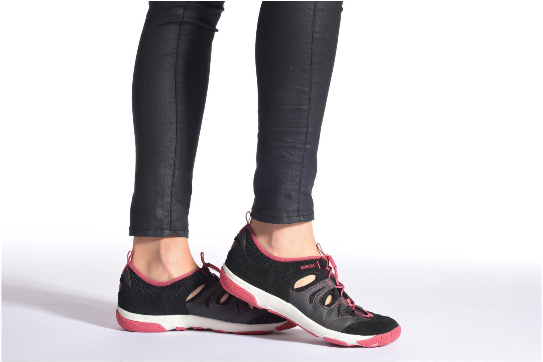 Chaussures à lacets Geox D XENSE A D62E9A Gris vue bas / vue portée sac