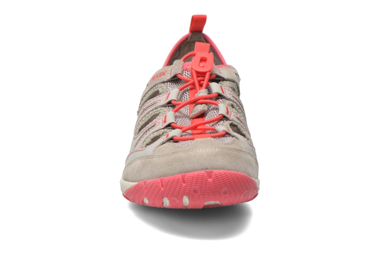 Chaussures à lacets Geox D XENSE A D62E9A Gris vue portées chaussures
