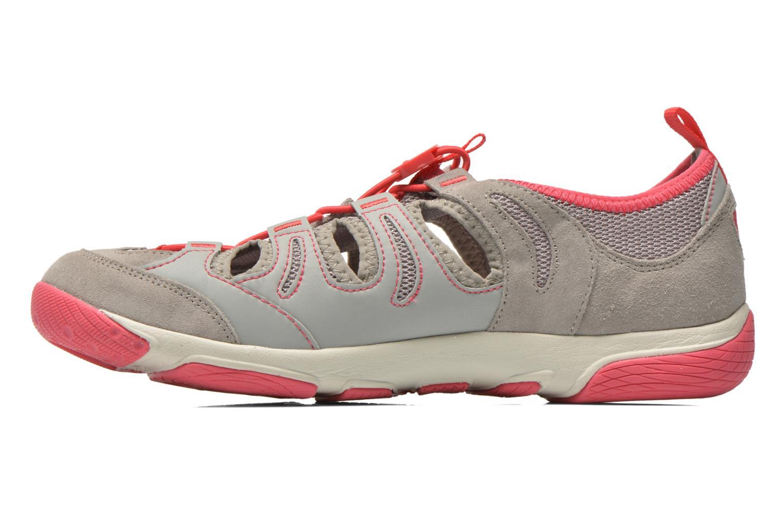 Chaussures à lacets Geox D XENSE A D62E9A Gris vue face