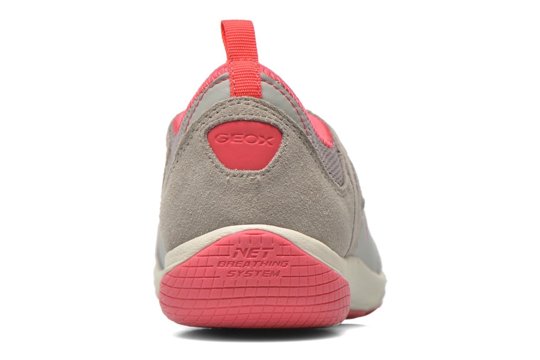 Chaussures à lacets Geox D XENSE A D62E9A Gris vue droite