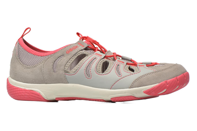 Chaussures à lacets Geox D XENSE A D62E9A Gris vue derrière