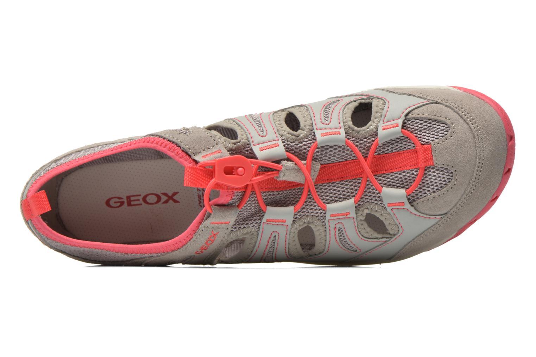 Chaussures à lacets Geox D XENSE A D62E9A Gris vue gauche