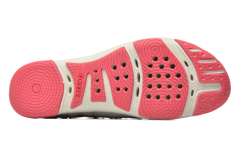 Chaussures à lacets Geox D XENSE A D62E9A Gris vue haut