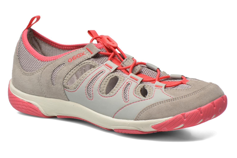Chaussures à lacets Geox D XENSE A D62E9A Gris vue détail/paire
