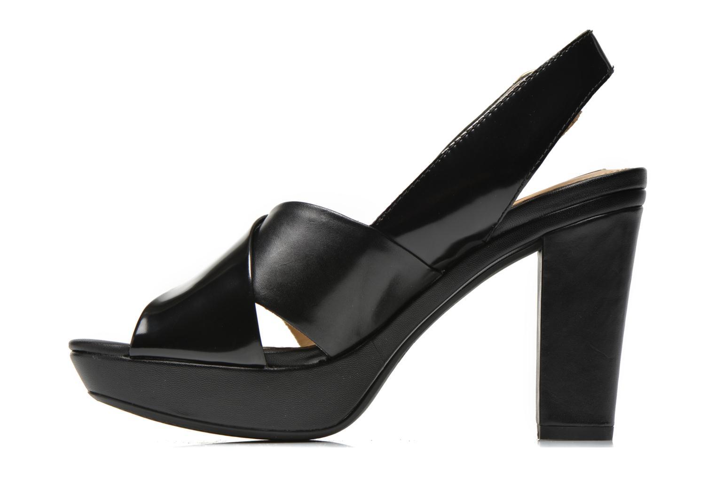 Sandali e scarpe aperte Geox D HERITAGE B D62R1B Nero immagine frontale
